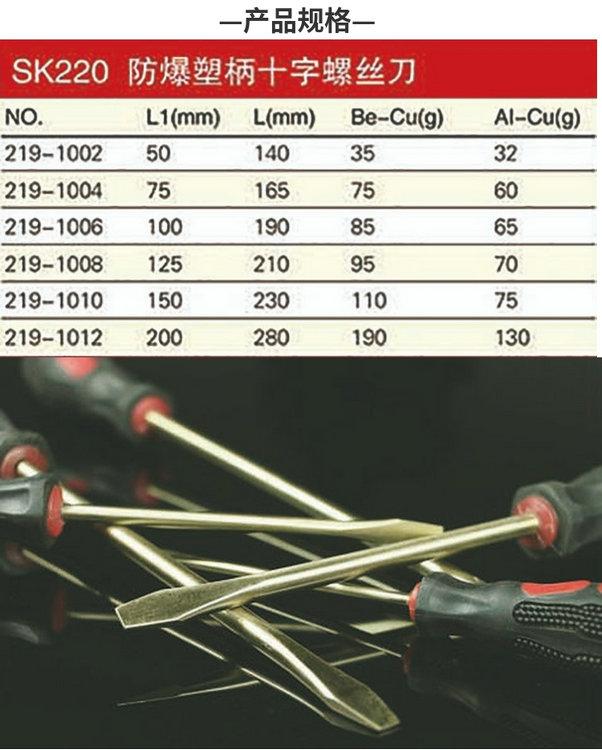 防爆塑柄十字螺丝刀规格