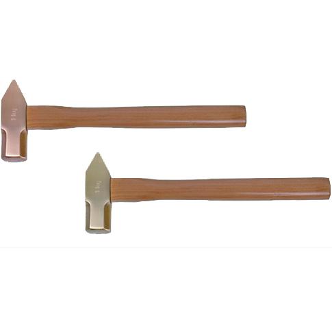 防爆木柄扁尾八角锤