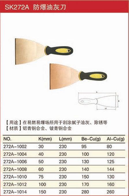 防爆油灰刀规格